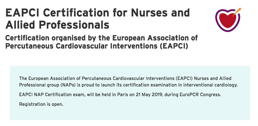 Acreditación Europea en Cardiología Intervencionista para Enfermería